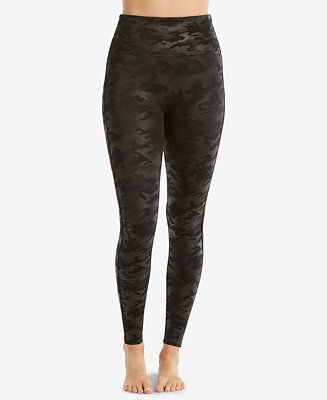 e99ae5e6672ac3 Spanx Camo Faux-Leather Leggings - Black Camo | wish list | Faux leather  leggings, Leather Leggings, Spanx