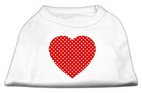 Mirage cat Products Red Swiss Dot Heart Screen Print Shirt, 3X-Large, White > Startling review available here  : Cat Apparel