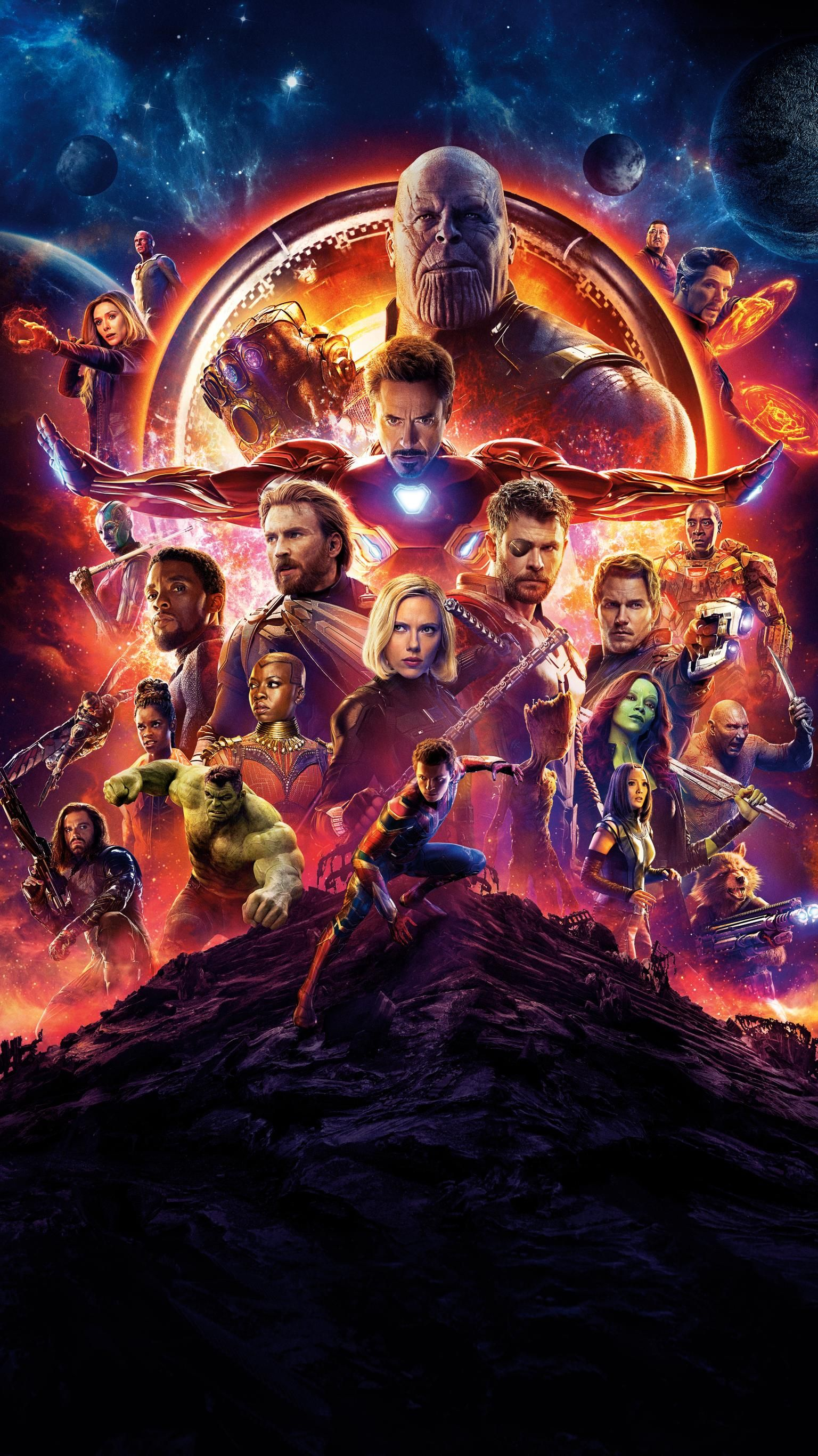 avengers: infinity war (2018) phone wallpaper | infinity war