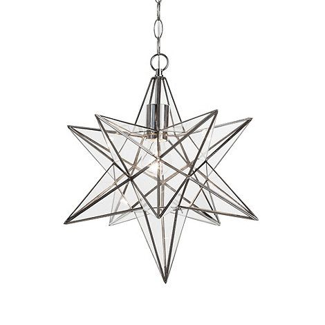 Litecraft nicklin star pendant ceiling light chrome at debenhams litecraft nicklin star pendant ceiling light chrome at debenhams aloadofball Gallery