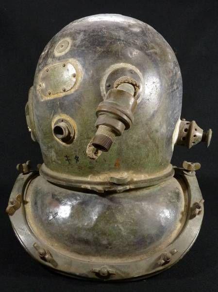 《SO》時代 銅製 潜水ヘルメット 東亜水機株式会社製 重量16kg_画像3