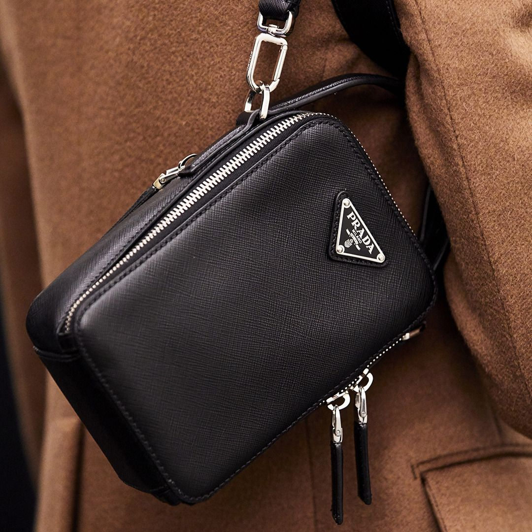 "Prada on Instagram: ""Case in point: a Saffiano bandoleer bag"
