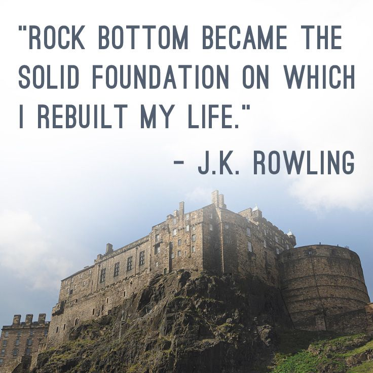 Jk Rowling Welcome To My World Rock Bottom Quotes Quotes