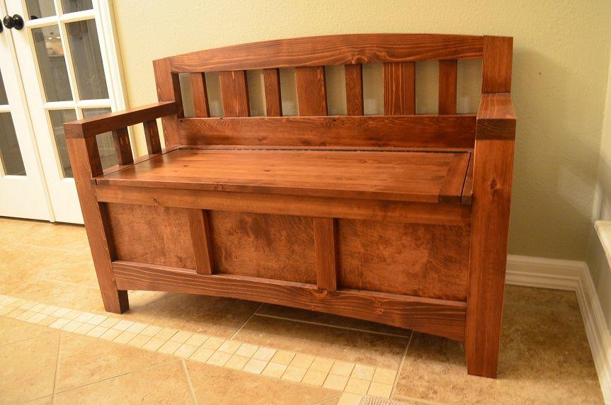 Custom diy cedar storage bench wooden storage bench