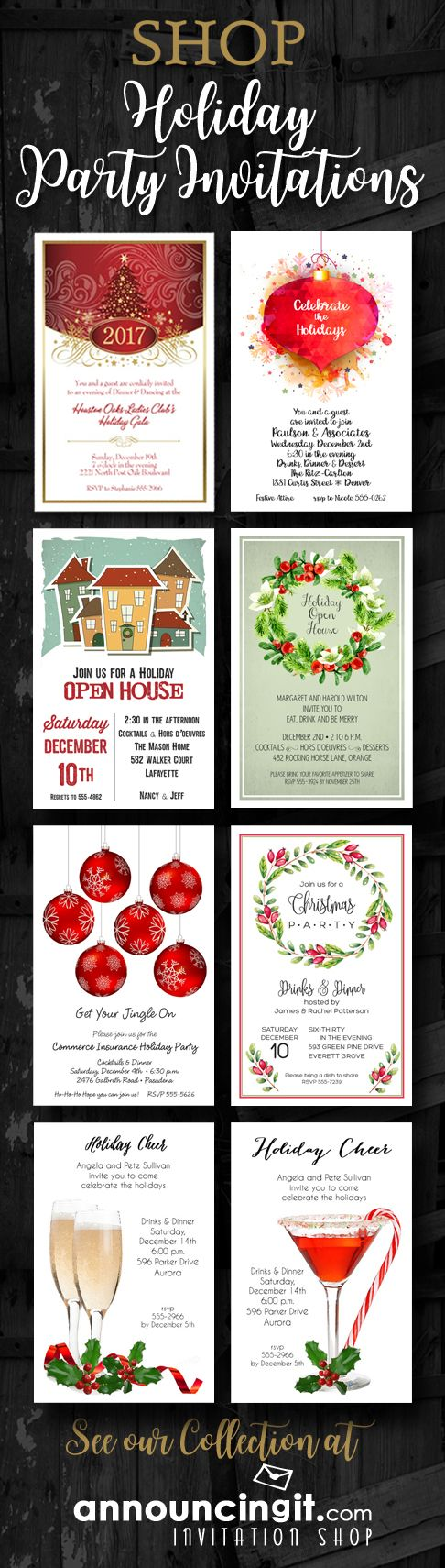 shop holiday party invitations for your christmas party office