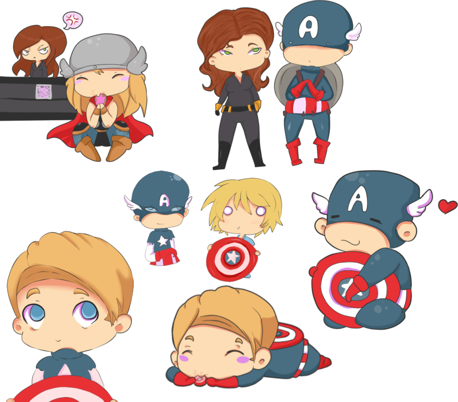 mighty cute avengers the most adorable avengers fan art