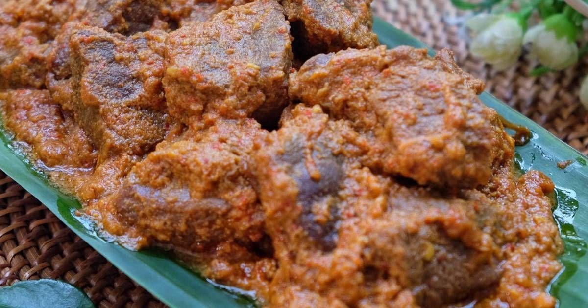 Resep Rendang Daging Oleh Susi Agung Resep Resep Makanan Dan Minuman Daging