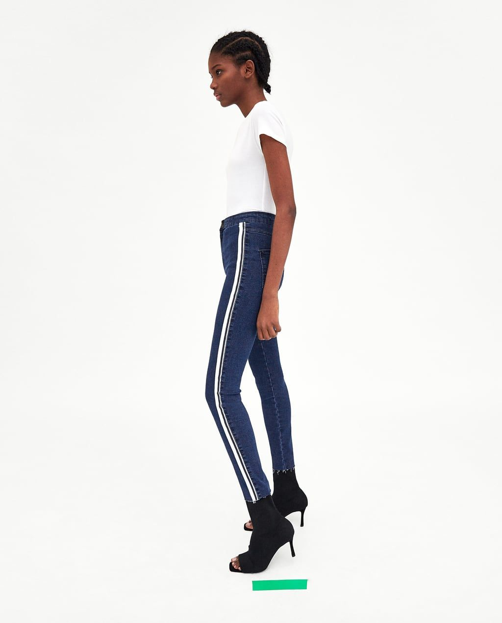 b943b9f3 Image 4 of HI-RISE 'SHAPER' JEGGINGS WITH SIDE STRIPE DETAIL from ...