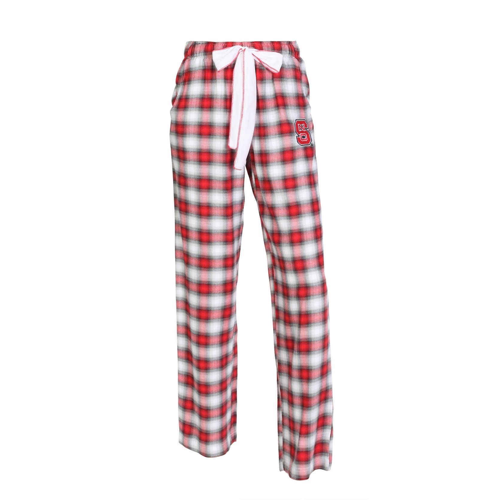 9ec9cfd329e2 North Carolina State Wolfpack Ladies Forge Flannel Pants Material: 55%  Cotton, 45% Rayon - Silk Drawstring Waist - Embroidered Logo - Officially  Licensed