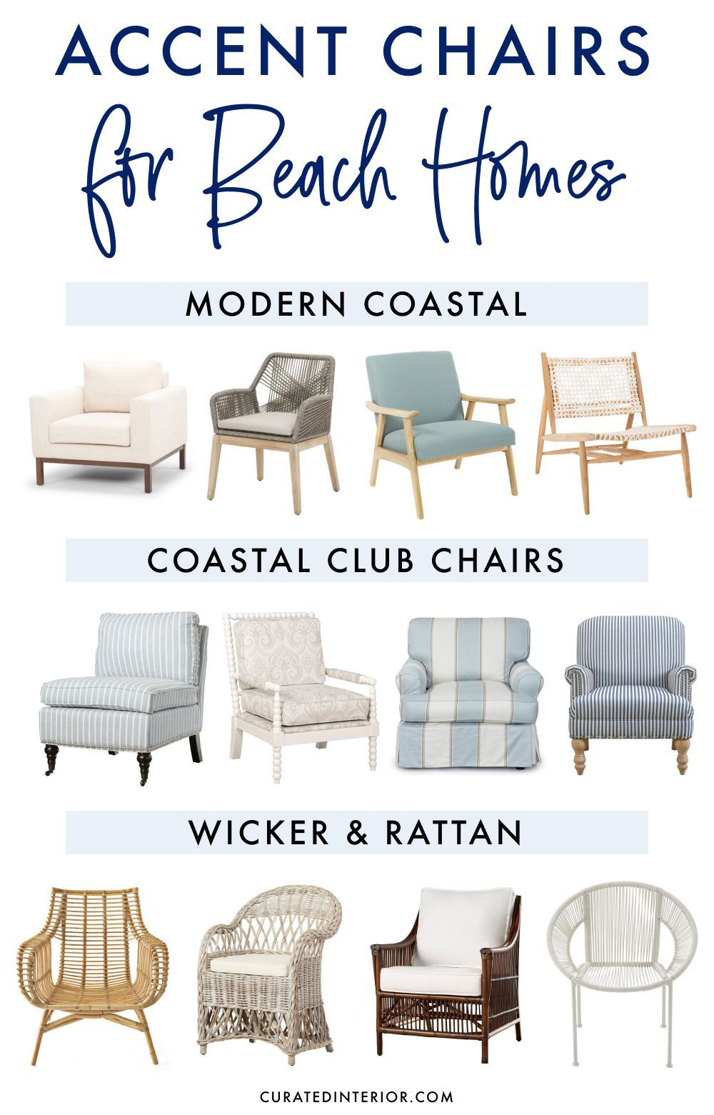 17 Accent Chairs For Beach Homes Living Room Chairs Coastal Living Room Accent Chairs For Living Room #nice #living #room #chairs