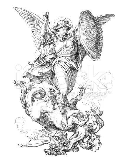 Archangel Michael Defeating Lucifer Tattoo Design: 7 тыс