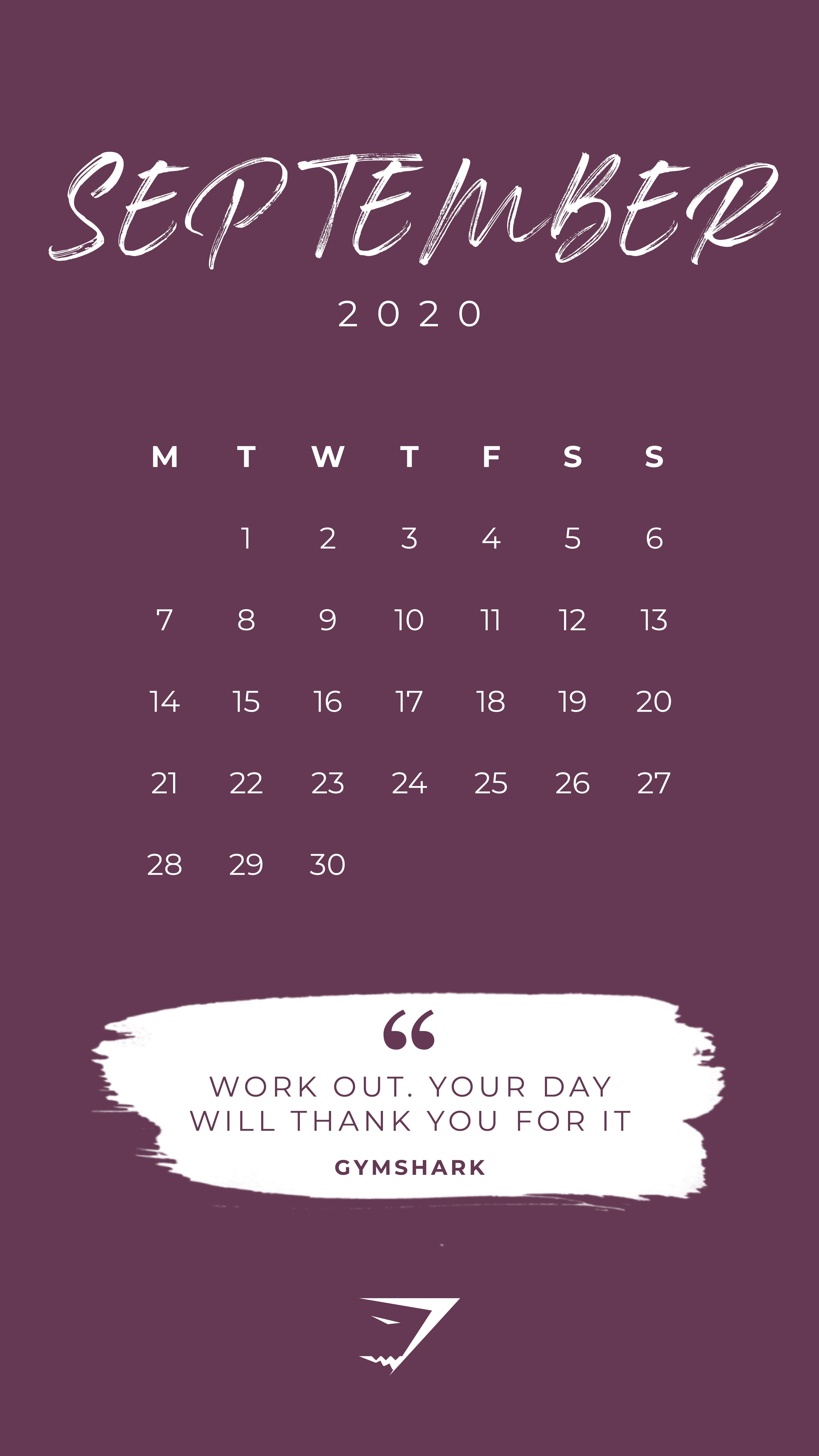 Most Current Free Of Charge September 2020 Calendar Wallpaper