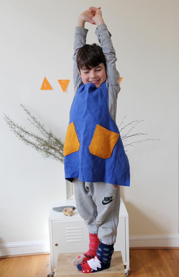 Linen aprons for the whole family
