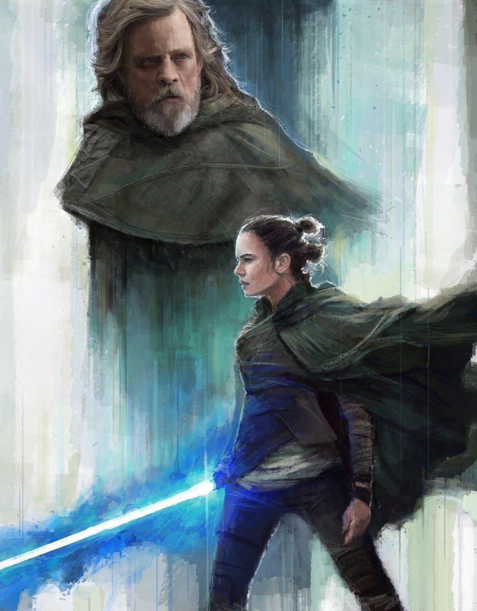 By Llcastorena Rey Lukeskywalker Starwars Rey Star Wars Star Wars Fandom Star Wars Art
