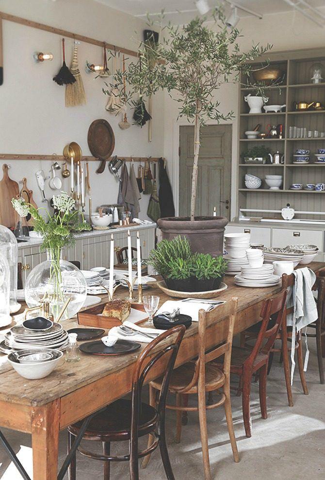 15 Amazing Farmhouse Table Settings Boho Chic Cafe Pinterest - shabby chic küchen