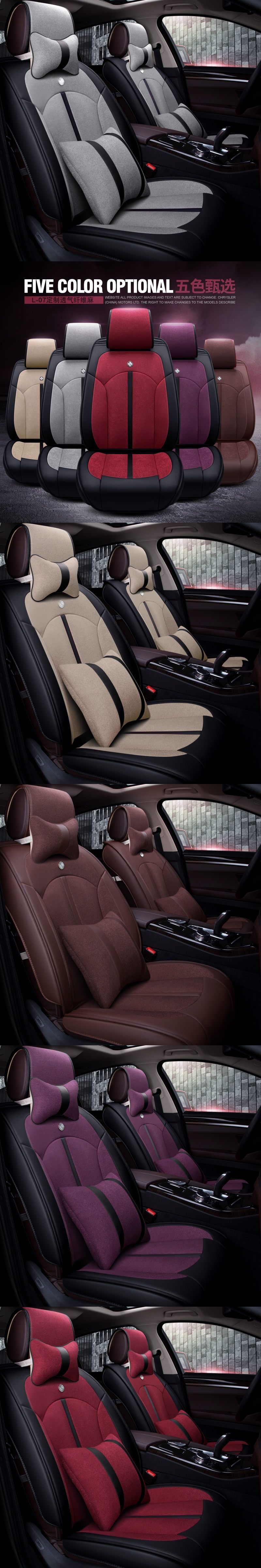 New 5D Car Seat Cover,Universal Seat Cushion,Senior Leather,flax Car Pad