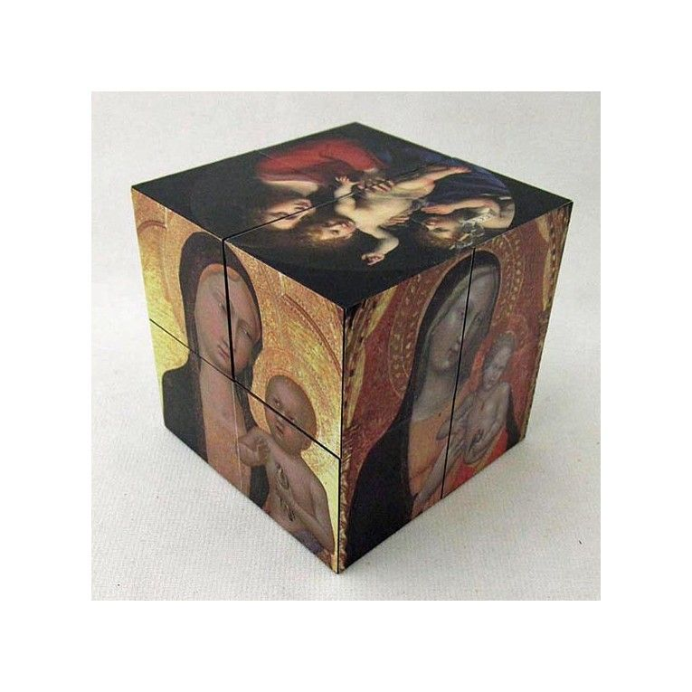 Madonna and Child Art Cube Famous Paintings From Italy