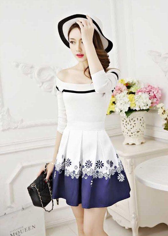 Rok Pendek Wanita Korea Terbaru Bahan Katun B2821 Tiara Dress