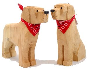 Carved Wood Yellow Labs #woodcarvingtoo