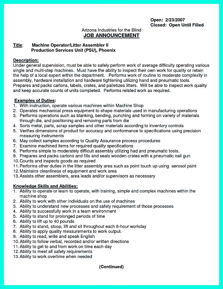 nice Writing Your Qualifications in CNC Machinist Resume