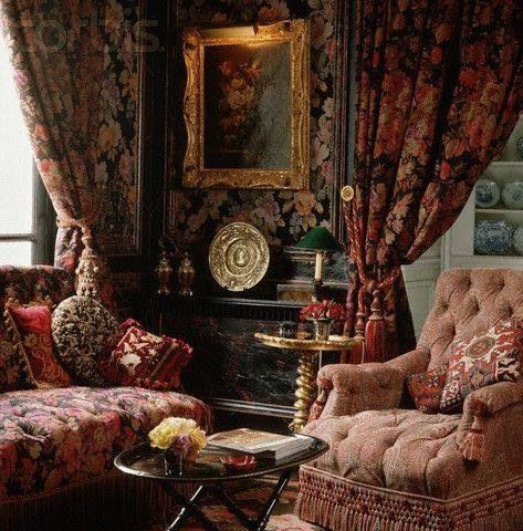 drapes....fringe....pillows....roses...love...