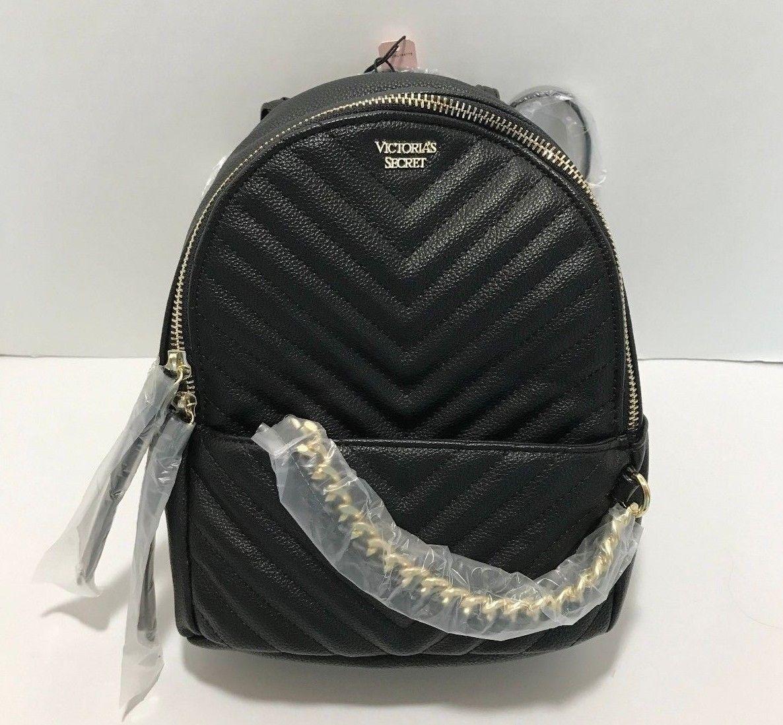 382a6a784295c Victoria's Secret Women's Pebbled V-Quilt Small City Backpack ...
