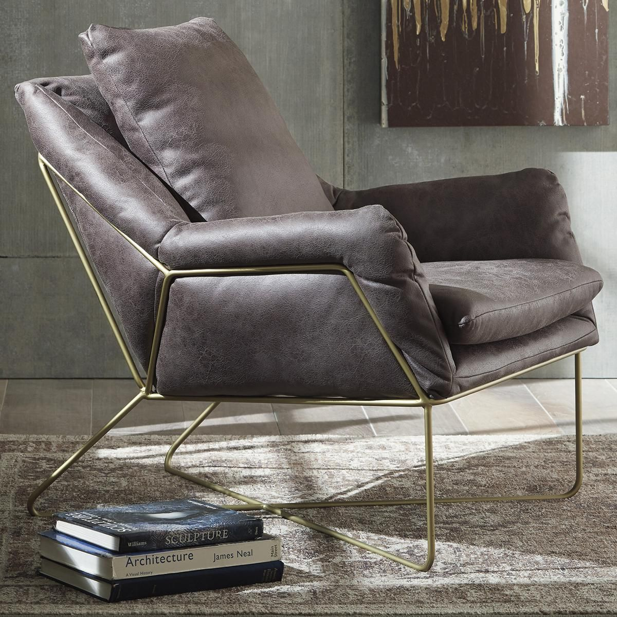Signature Design By Ashley Engineer Accent Chair In Dark