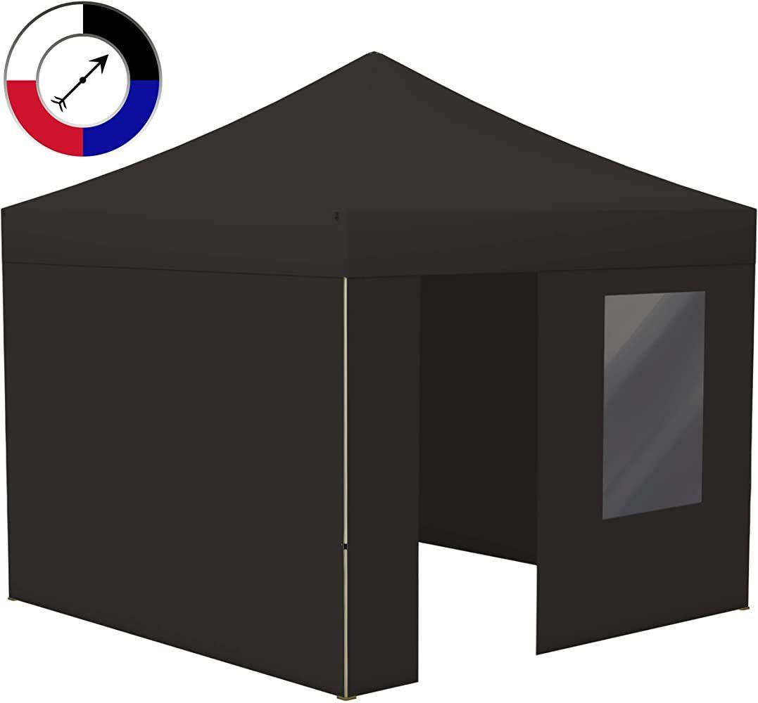 Vispronet Profi Faltpavillon Faltzelt Basic 3x3 M Schwarz Stabiles