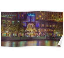 Southgate on the Yarra at Night Time - Melbourne Poster