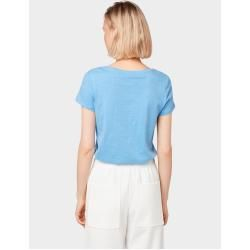 Photo of Tom Tailor Denim Ladies T-Shirt with print, blue, plain-colored with print, size L Tom TailorTom Tailor