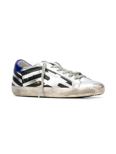 Golden Goose Deluxe Brand Super Star Stripe Leather Sneakers