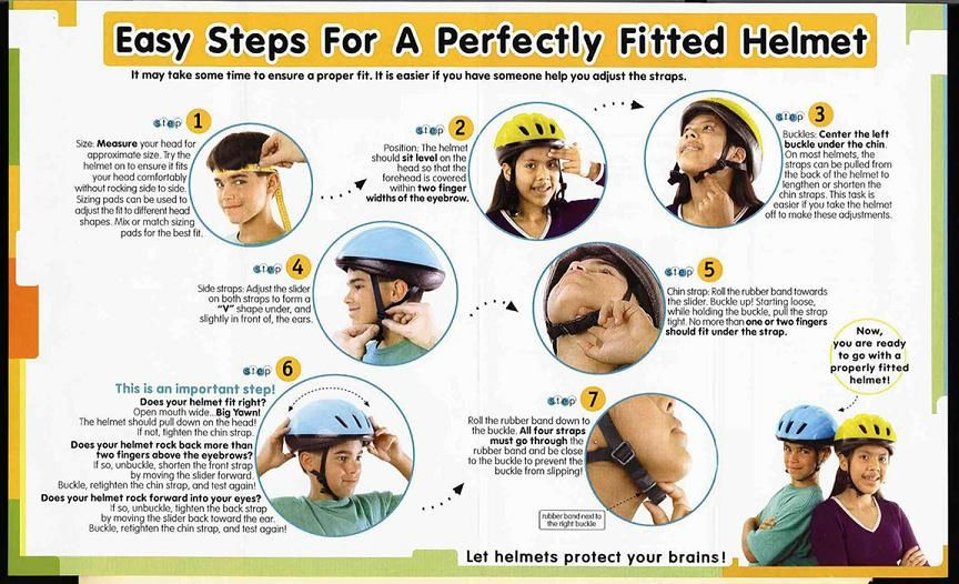 Proper Helmet Fit Medium Bike Safety Bicycle Safety Bicycle