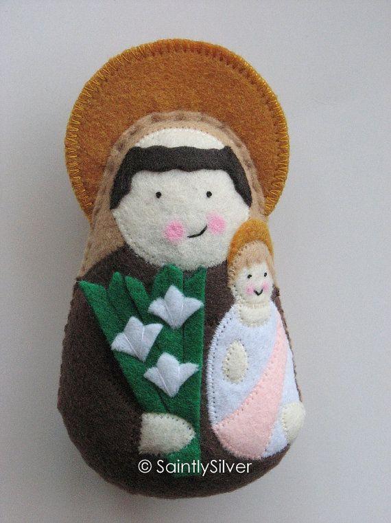 Saint Anthony Of Padua Felt Saint Softie Mental Health Felt