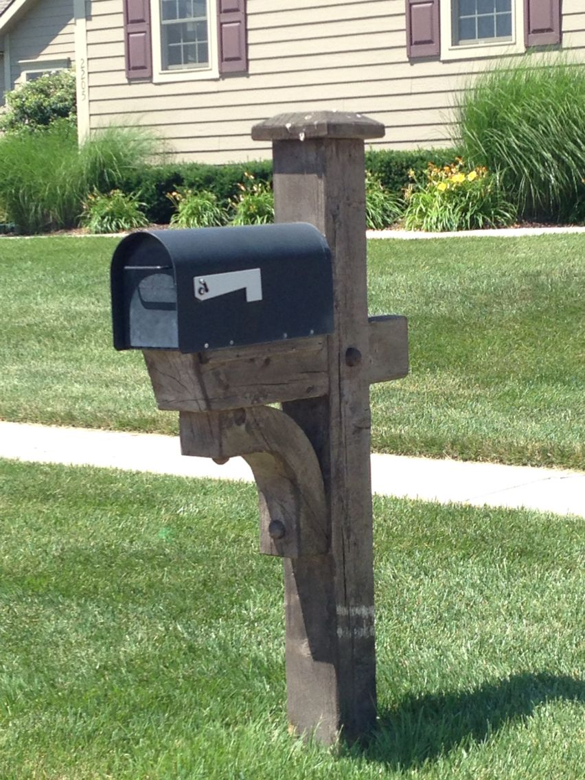 6x6 Mailbox Post House In 2019 Diy Home