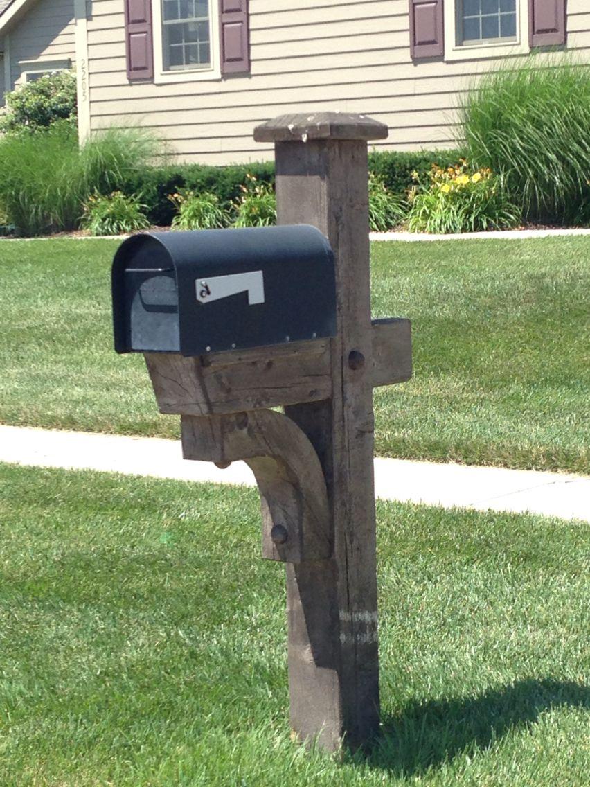 6x6 Mailbox Post Diy Mailbox Wooden Mailbox Rustic Mailboxes