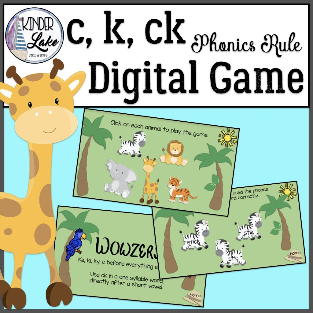 C K Ck Phonics Interactive Digital Game