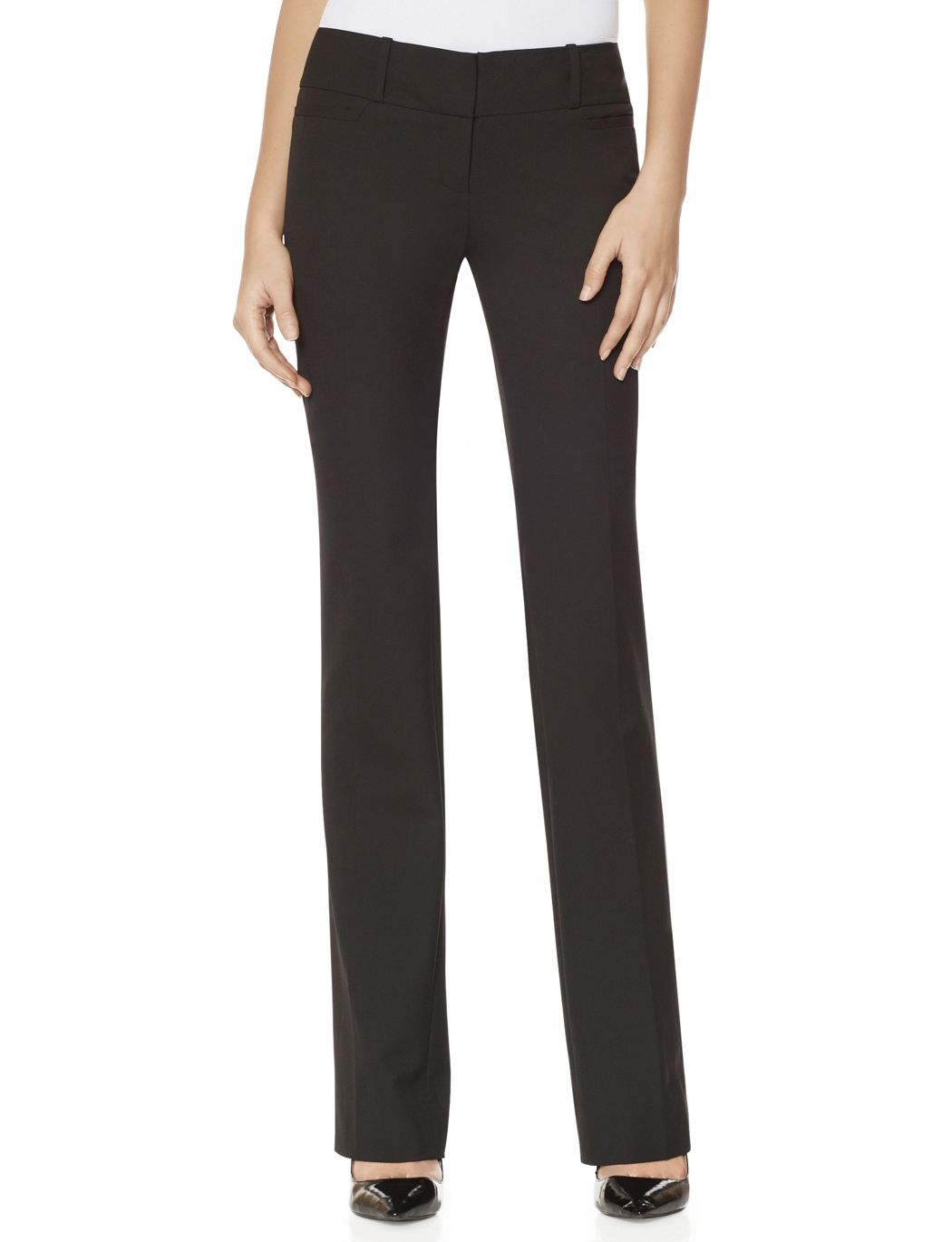 Charcoal grey bootcut trousers