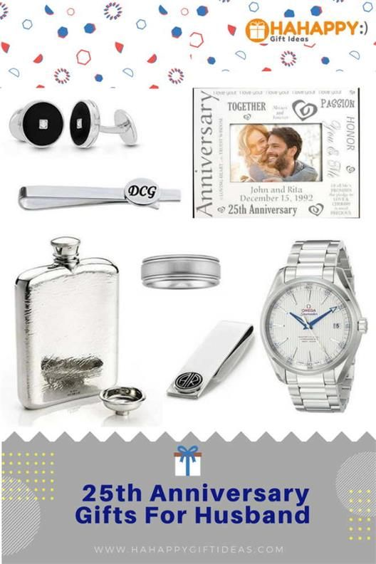 Wedding Anniversary Gifts For Husband Ideas: 25th (Silver) Wedding Anniversary Gifts For Husband