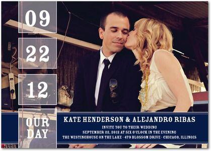 Our Date - Signature White Wedding Invitations - Jenny Romanski - Rust - Orange : Front