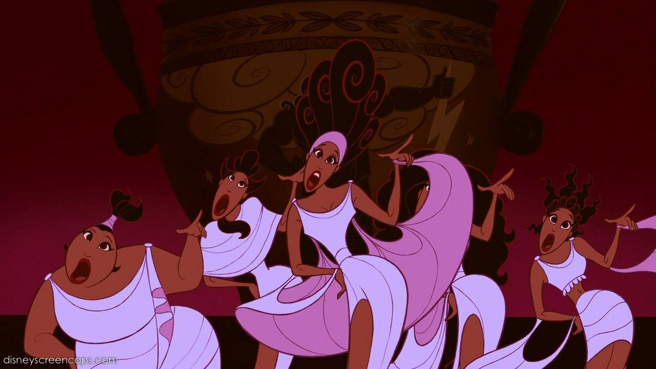 The Muses From Hercules Animated Disney Characters