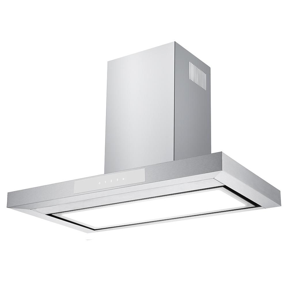 Chambers 30 In 600 Cfm Convertible Wall Mount Range Hood With Light In Stainless Steel Silver Wall Mount Range Hood Wall Mount Led Panel Light