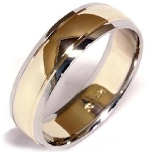 Simple 2 Tone Shiny Wedding Ring Bands Mens Wedding Rings Mens Wedding Bands