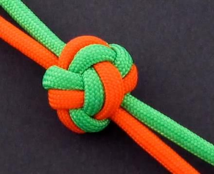 How to Make a Double (2-Strand) Diamond Knot by TIAT | Knots