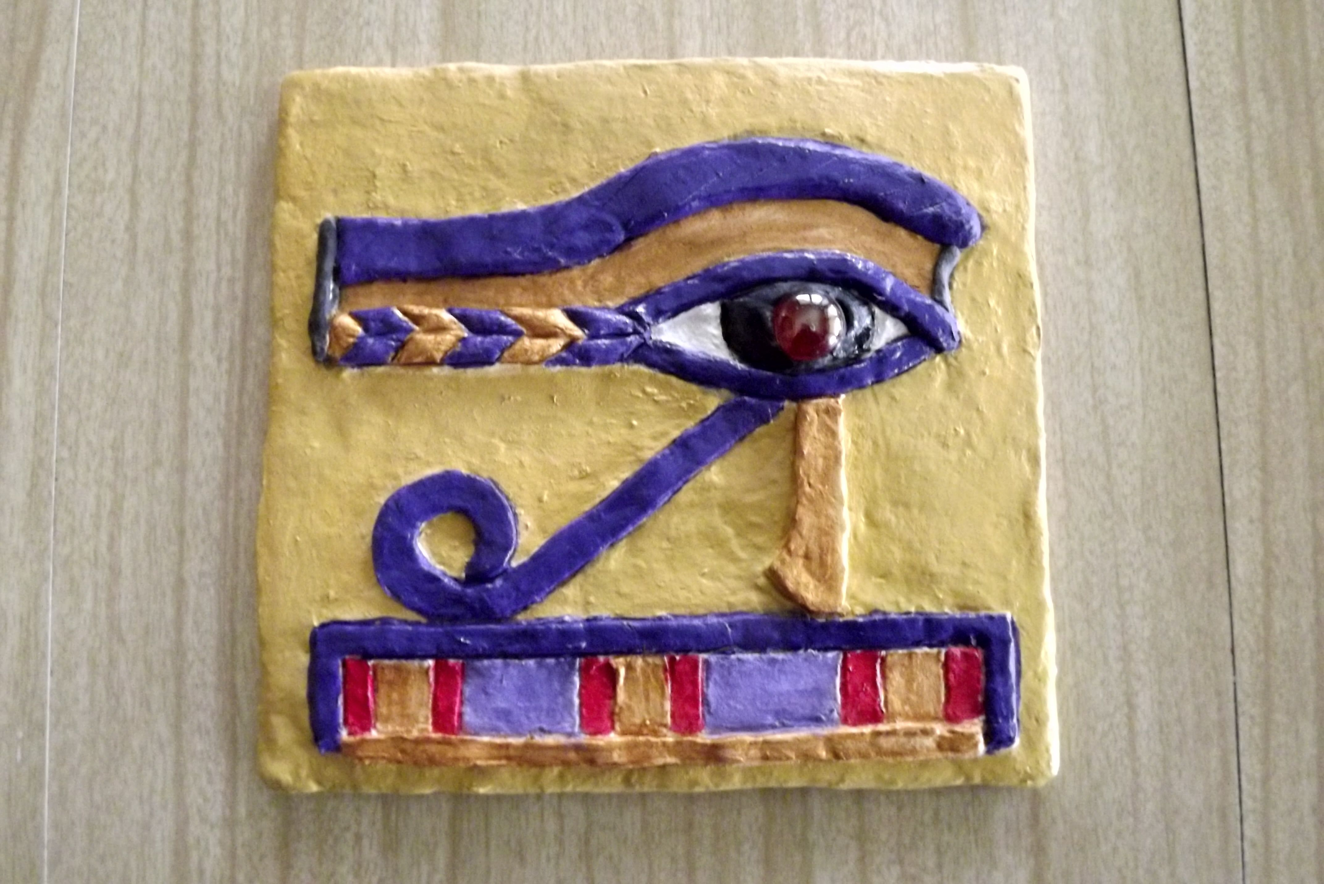 SOLD ---- Papier Mache Eye of Horus Wall Hanging | CRAFTS - The ...