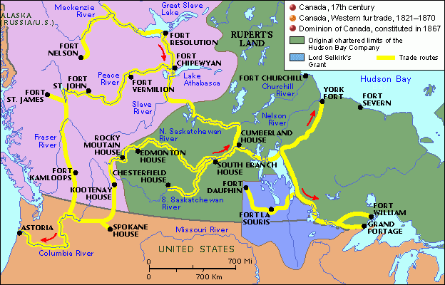 Map Of Canada Fur Trade.Image Result For Fur Trade Canada Fur Trade Teaching