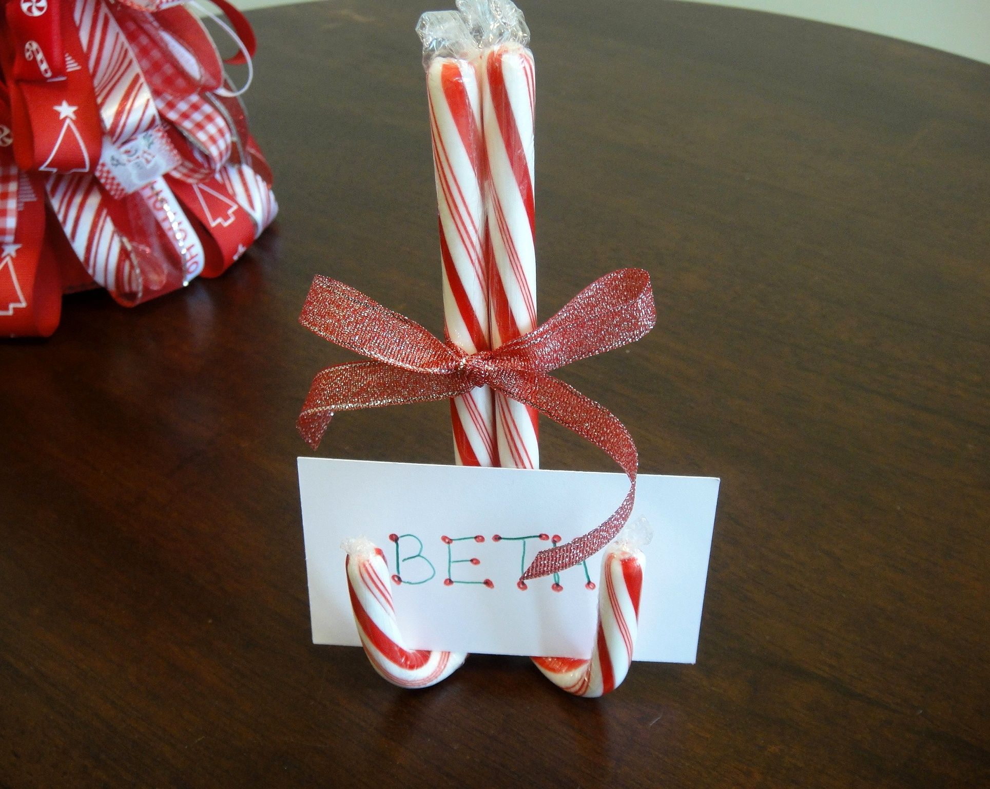 Wonderful Christmas Candy Craft Ideas Part - 11: Christmas Idea For Table. It Would Becute To Take Pictures Of Everyone. Or  Use