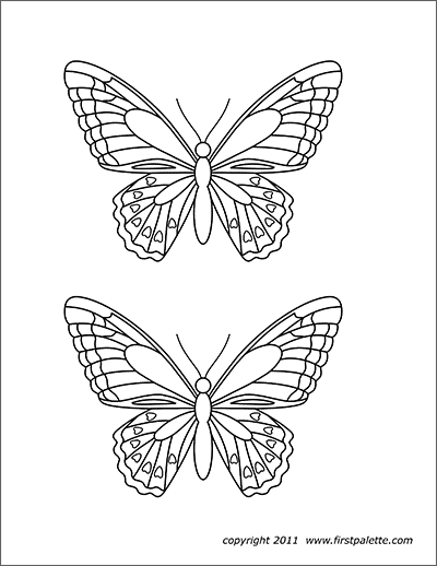 Butterflies Free Printable Templates Coloring Pages Firstpalette Com Butterfly Printable Template Butterfly Printable Butterfly Coloring Page