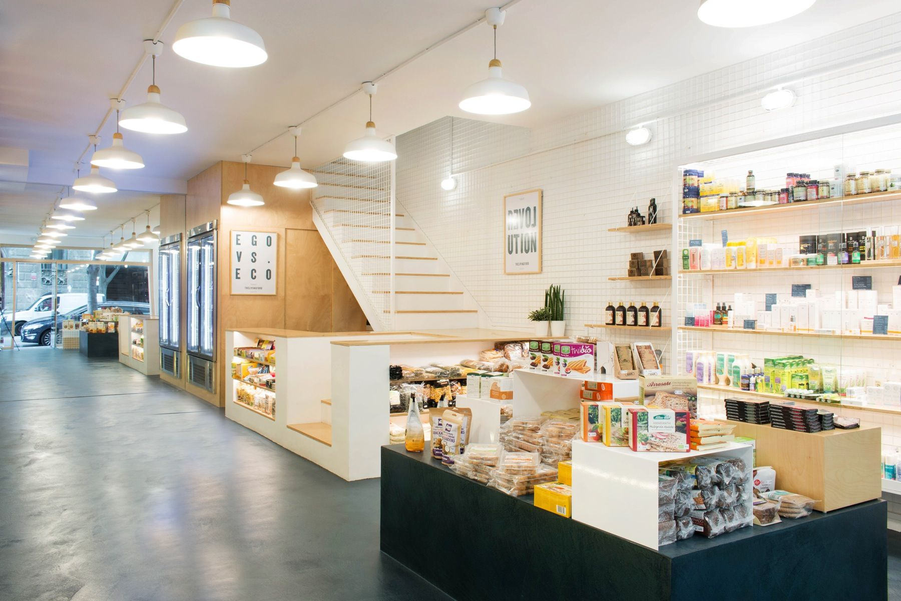 The Living Food Bio Vegan Store By Miriam Barrio Studio Barcelona