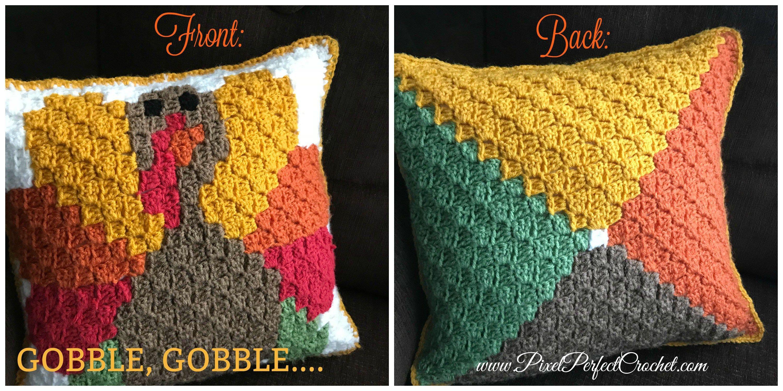 Turkey Crochet Pillow Thanksgiving Crochet Crochet Fall Crochet