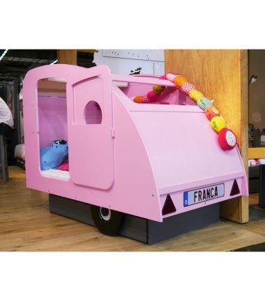 Lit caravane rose lit enfant mobilier enfant et meubles - Caravane 5 places lits superposes ...